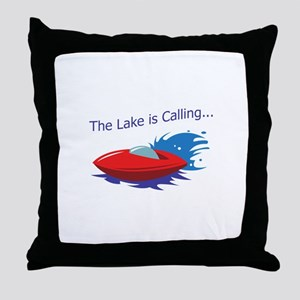 THE LAKE IS CALLING Throw Pillow
