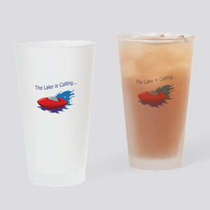THE LAKE IS CALLING Drinking Glass