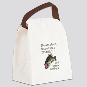 SHE HAD A BIG MOUTH Canvas Lunch Bag
