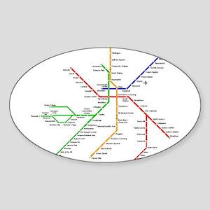 Boston Rapid Transit Map Subway Metro Sticker