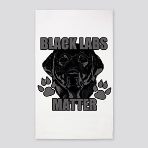 Black Labs Matter Area Rug