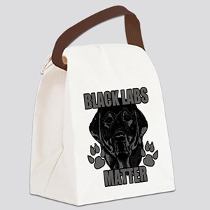 Black Labs Matter Canvas Lunch Bag