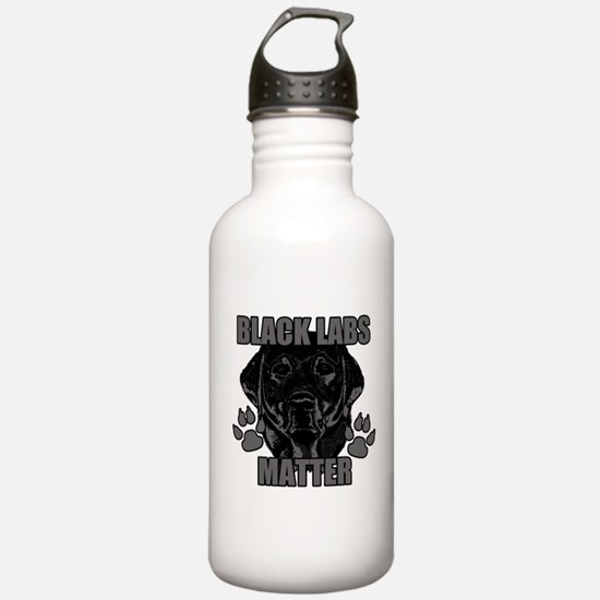 Black Labs Matter Water Bottle