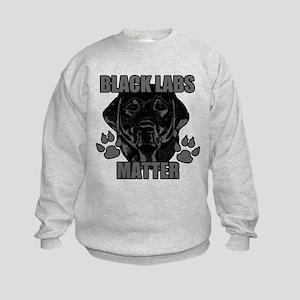 Black Labs Matter Kids Sweatshirt