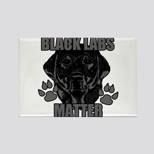 Black Labs Matter Rectangle Magnet