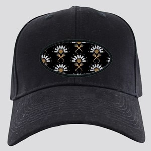 Eagle Feather Fan Black Cap