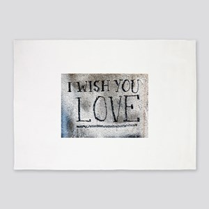 """I Wish You Love"" 5'x7'Area Rug"