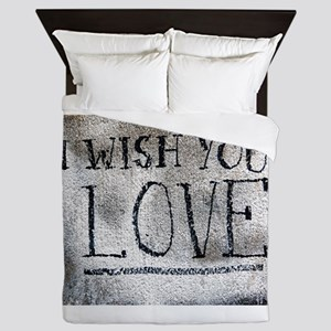 """I Wish You Love"" Queen Duvet"