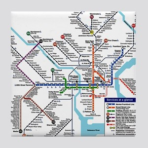 Pennsylvania Public Transportation Tr Tile Coaster