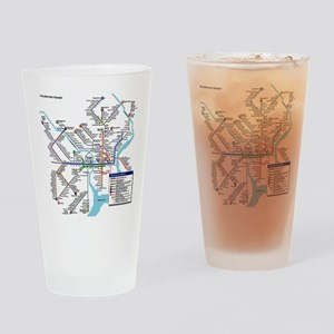 Pennsylvania Public Transportation Drinking Glass