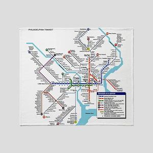 Pennsylvania Public Transportation T Throw Blanket