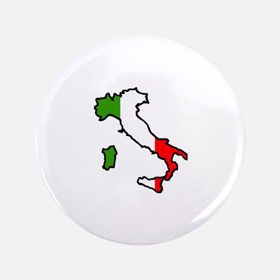 "ITALY MAP FLAG 3.5"" Button"