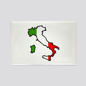 ITALY MAP FLAG Magnets