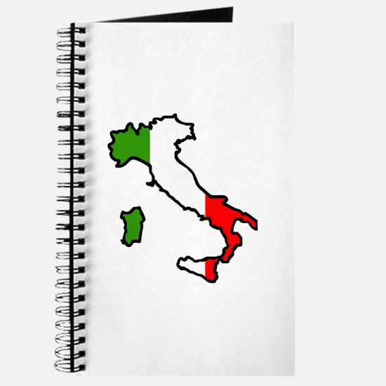 ITALY MAP FLAG Journal