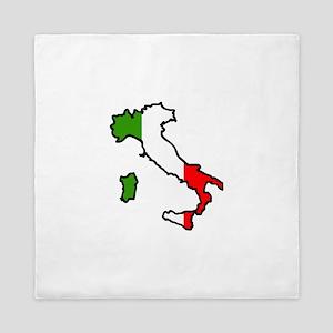 ITALY MAP FLAG Queen Duvet