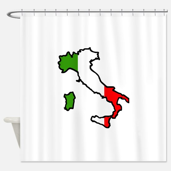ITALY MAP FLAG Shower Curtain