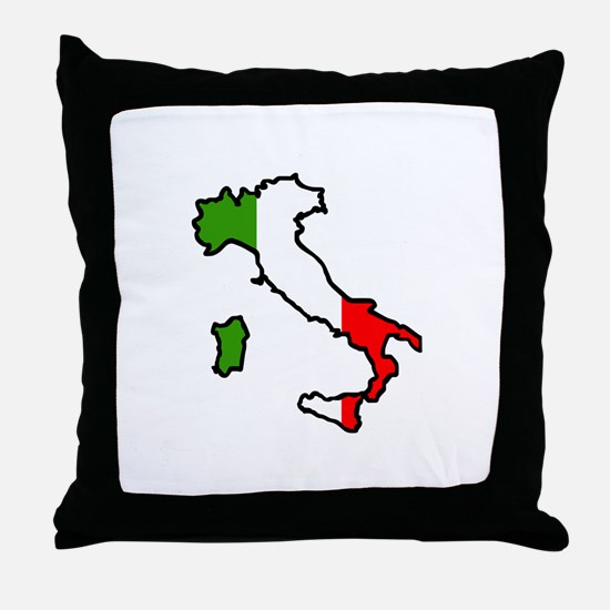 ITALY MAP FLAG Throw Pillow