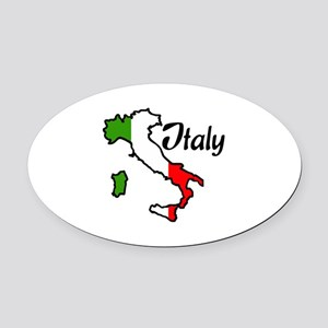 ITALY Oval Car Magnet