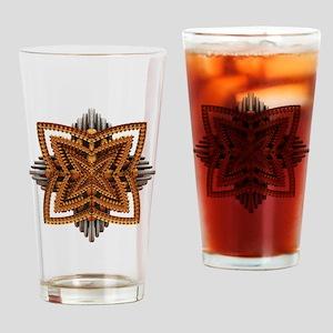 Art Deco Brooch Drinking Glass