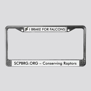 I Brake for Falcons License Plate Frame
