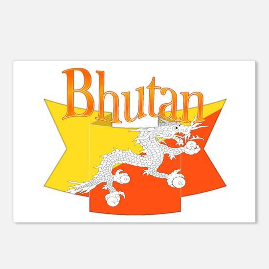 Bhutan Ribbon Postcards (package Of 8)
