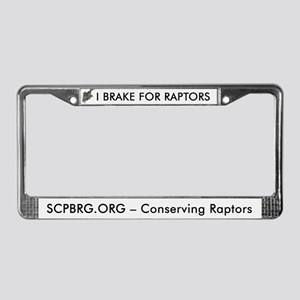 I Brake for Raptors License Plate Frame