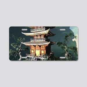 Asian Temple Aluminum License Plate