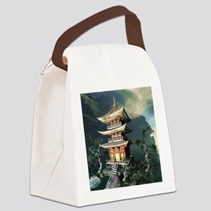 Asian Temple Canvas Lunch Bag