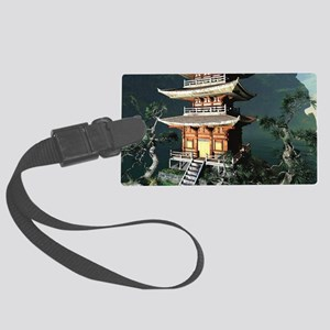 Asian Temple Luggage Tag
