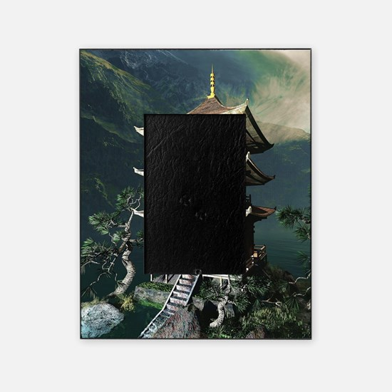 Asian Temple Picture Frame