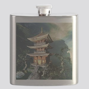 Asian Temple Flask