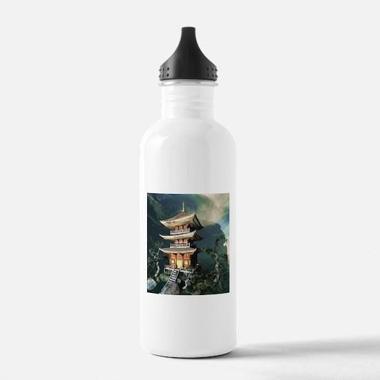 Asian Temple Water Bottle