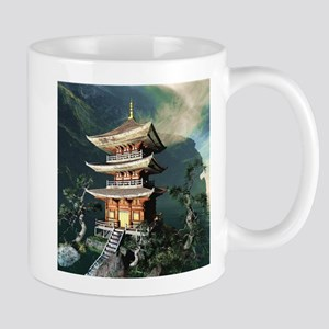 Asian Temple Mugs