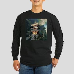 Asian Temple Long Sleeve T-Shirt
