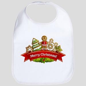 Merry Christmas Gingerbread Cookies Bib