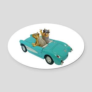 Squirrels Car Oval Car Magnet
