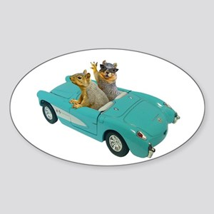 Squirrels Car Sticker (Oval)