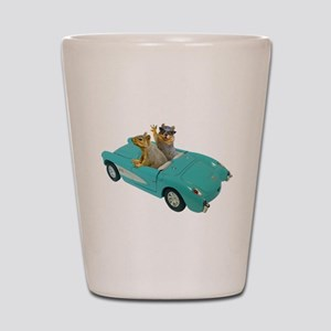 Squirrels Car Shot Glass