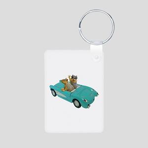 Squirrels Car Aluminum Photo Keychain