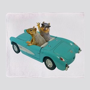 Squirrels Car Throw Blanket