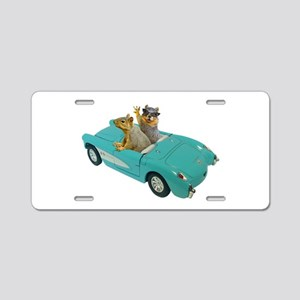 Squirrels Car Aluminum License Plate
