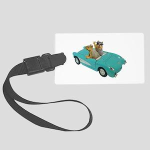 Squirrels Car Large Luggage Tag