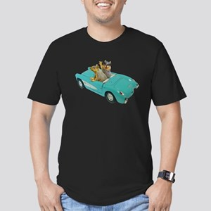 Squirrels Car Men's Fitted T-Shirt (dark)
