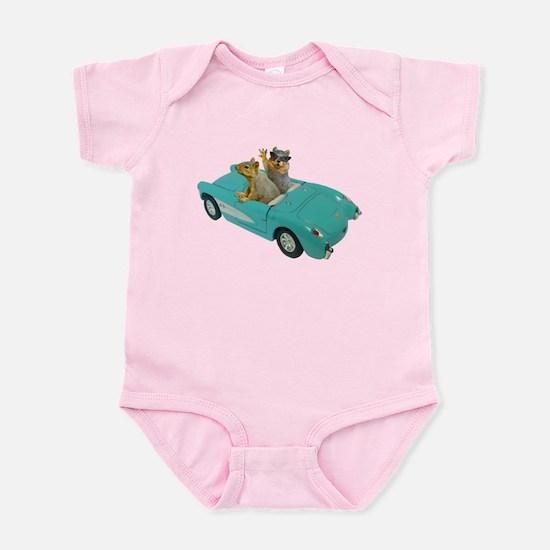 Squirrels Car Infant Bodysuit