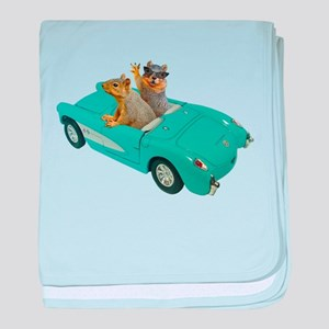Squirrels Car baby blanket
