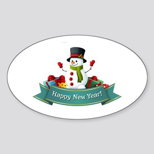 Happy New Year! Sticker (Oval)
