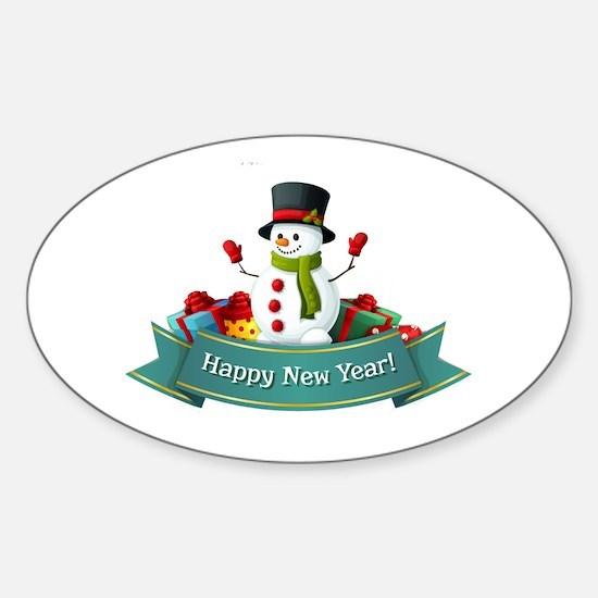 Happy New Year! Sticker (Oval)