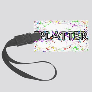 Splatter  Large Luggage Tag