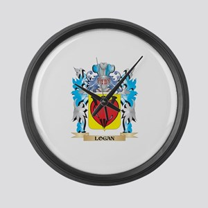 Logan Coat of Arms - Family Crest Large Wall Clock