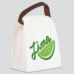 Cute Lime Slice Canvas Lunch Bag